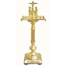 мет Крышка панихидного стола на 20 свечей на ноге малый 23050р