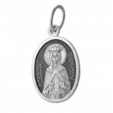 00011 Подвеска серебро Святая Александра