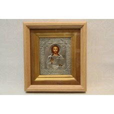 Икона посеребренная риза Иисус Христос 10х12см 4500руб *