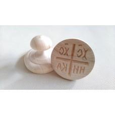 Печать Д40мм.для просфор деревянная  620руб