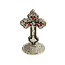 Крест металлический на подставке эмаль стразы 250руб.