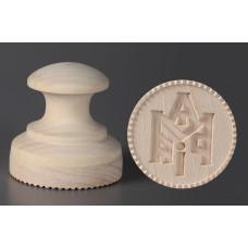 Печать Д100мм. для просфор деревянная 1050руб