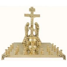 мет Крышка панихидного стола на 20 свечей большая 18250р