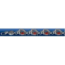 50812 Браслет серебро охранны турмалин 18см