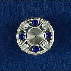 Мощевик 500руб круглой формы с синими стразами