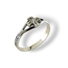 00081 кольцо серебро размер 19,5