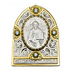 И30004 Икона серебро золочение ИХ вставка гранат 11000руб