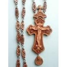 Крест иерейский  деревянный резной с наградой (груша) 7500руб