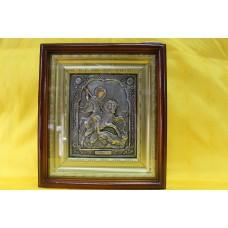 Икона посеребренная риза Георгий Победоносец 14х18  5000руб *