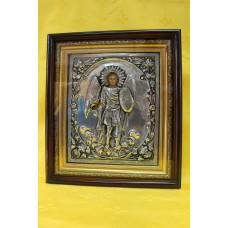 Икона посеребренная риза Архистратиг Михаил 22х28 9100руб *