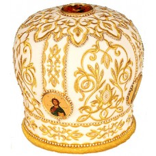Митра белая с золотом 30 000руб размер 59