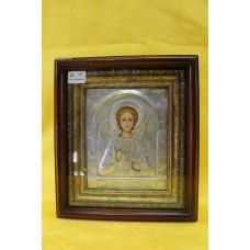 Икона посеребренная риза Ангел Хранитель 14х18 6000руб *